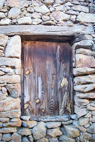 Arquitectura tradicional en Gredos Norte en Horcajo de la Ribera