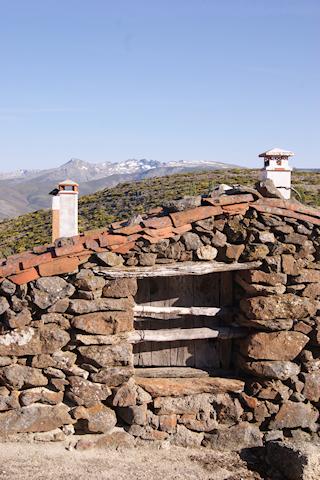 Arquitectura tradicional en Gredos norte en Navasequilla