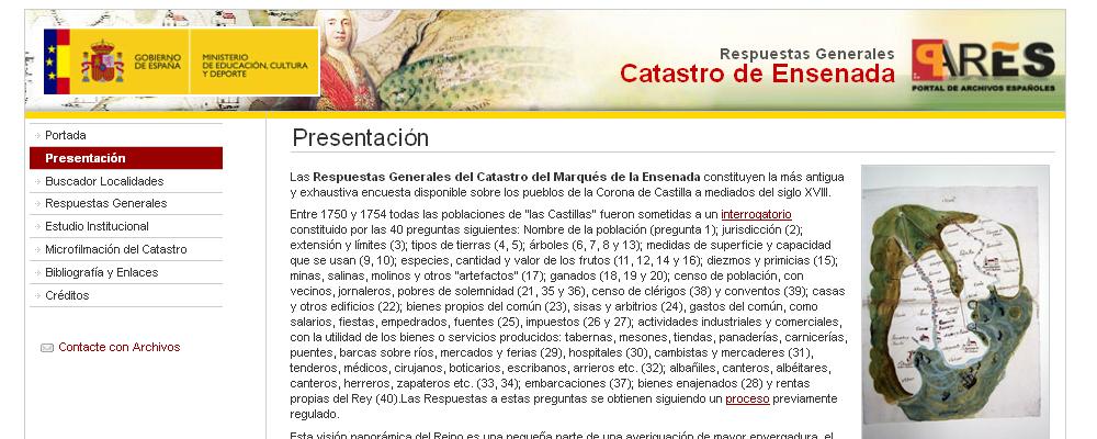 Catastro Marqués de la Ensenada (Siglo XVIII)